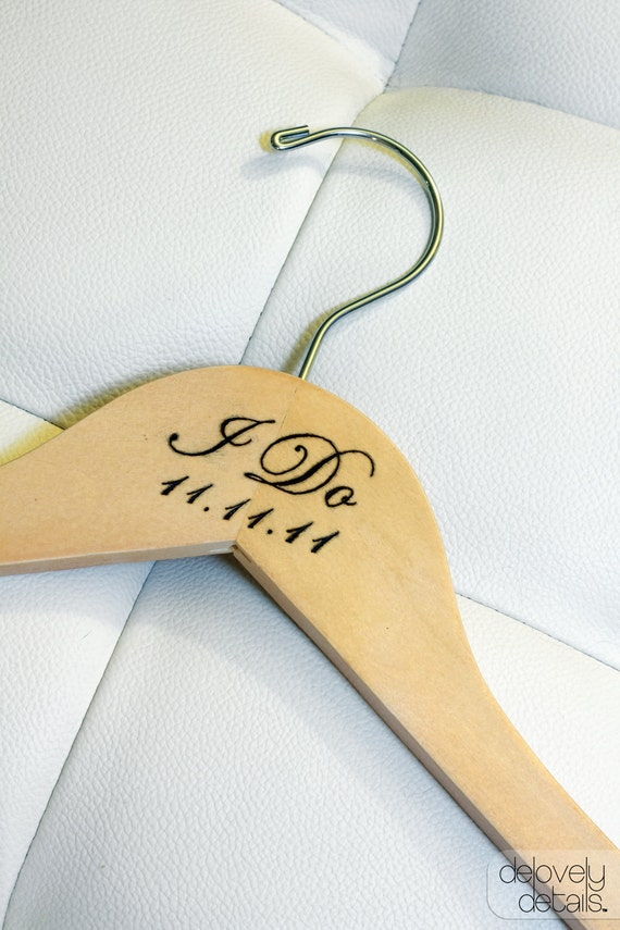 "1 - Personalized ""I Do"" Wedding Hanger"