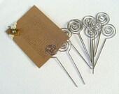 10-Pcs Swirl Shaped Wire Memo Holder Clip(SMALL), Sign Holder, Escort Card Display, Namecard Holder, Pick