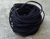 20Yds (1,800cm or 60Ft)-  Black Faux Suede Cord, Lace (FS3-32)