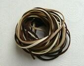 10Yd (900cm or 30Ft)- 5 Colors Faux Suede Cord-Ivory, Beige, Camel, Brown & Dark Brown