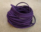 10Yds (900cm or 30Ft)- Dark Violet Faux Suede Cord, Lace (FS3-20)