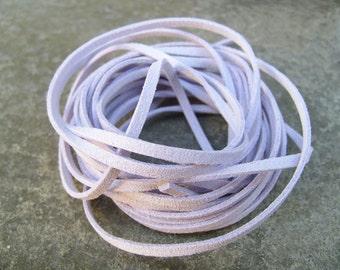 10Yds (900cm or 30Ft)- Pastel Violet Faux Suede Cord, Lace (FS3-23)