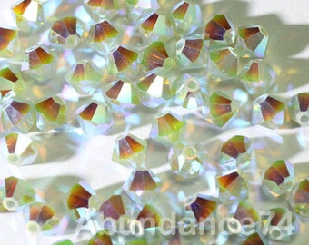 50pcs Swarovski Elements - Swarovski Crystal Beads 5328 4mm Xillion Beads - Pacific Opal AB2X