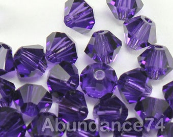 Swarovski Crystal Beads BICONE 5328 5301 crystal beads PURPLE VELVET - Available in 3mm, 4mm, 5mm and 6mm