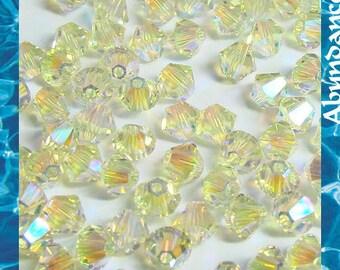24 pcs 5328 Swarovski Elements Crystal 6mm  Xillion Beads - JONQUIL AB2X