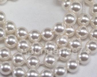 100 pcs Swarovski Crystal Pearl 3mm 5810 Round Ball Pearl - Color : White