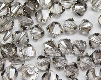 Swarovski Crystal Beads BICONE 5328 5301 CLEAR SATIN - Available in 3mm, 4mm, 5mm and 6mm