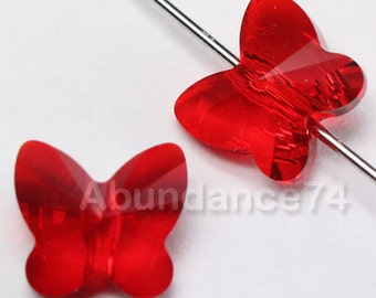 12 pcs 5754 Swarovski Elements Butterfly Crystal Beads LIGHT SIAM Available in 6mm, 8mm and 10mm