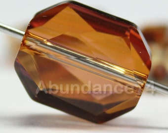 5520 Swarovski Elements Graphic Crystal Beads 18mm - Crystal Copper