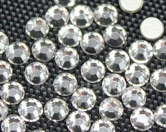 144 pcs Swarovski Crystal 2058 ss12 3mm Rhinestone Flatbacks, Non Hotfix - Crystal Clear
