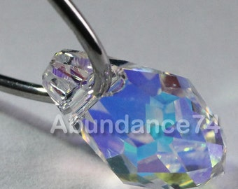 Chose Sizes and Quantity - Swarovski Elements Crystal Pendants 6007 7mm and 9mm Small Briolette CLEAR AB
