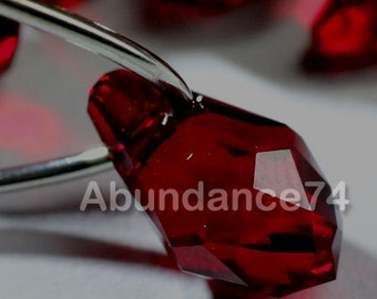 Chose Size and Quantity - Swarovski Elements Crystal Pendants 6007 7mm and 9mm Small Briolette SIAM