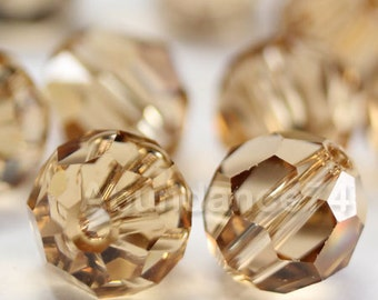 Swarovski Elements Crystal Beads 5000 Round Ball Beads LIGHT COLORADO TOPAZ - Available in 5mm and 7mm