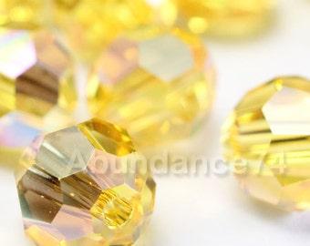 16 pcs Swarovski Elements - Swarovski Crystal Beads 5000 6mm Round Ball Beads - LIGHT TOPAZ AB