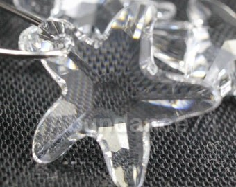 2pcs Swarovski Elements - Swarovski Crystal Pendant 6721 16mm Starfish Pendant Crystal Clear