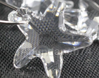 2pcs Swarovski Elements - Swarovski Crystal Pendant 6721 20mm Starfish Pendant - Crystal Clear