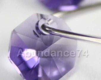 6pcs Swarovski Elements - Swarovski Crystal Pendant 6401 12mm Octagon Pendant - Tanzanite
