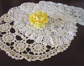 Doilies Hand Crocheted Vintage French Doilies