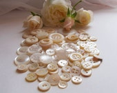 White buttons 30s-60s Mother of pearl
