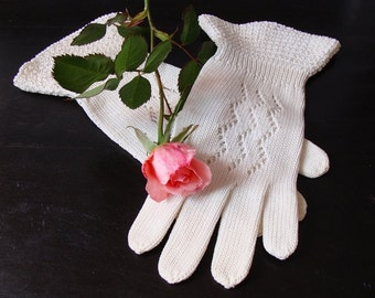Gloves French Crocheted  Vintage