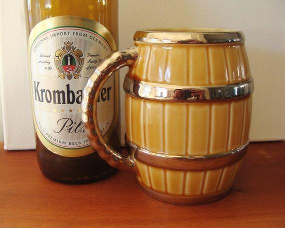 Vintage Beer Mug Barrel Wade Ireland
