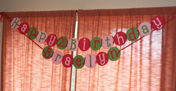 Strawberry Shortcake Birthday Banner