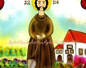 Postcard, Religious Saint, St. Fiacre, Patron Saint of Gardeners & Herbalists, Artist Postcards, Prints