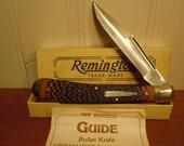 Vintage Large 1992 Remington USA R1253 Guide Bullet Lockback Hunter Folding Pocket Knife New NIB