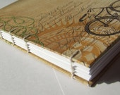 Vintage Bicycle Coptic Stitch Journal
