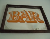 Vintage MIRRORED BAR Rustic Western Saloon-Style Wall Hanging