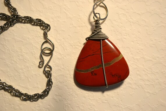 Tribal drum circle pendant necklace