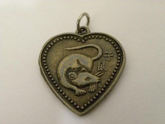 Brass Zodiac Animal Charm - Rat