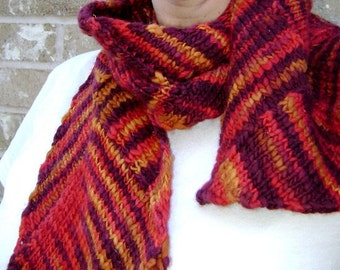 Agnes entrelac scarf (knitting pattern)