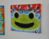 """20""""x24"""" Tie Dyed Frog Wall Hanging"""