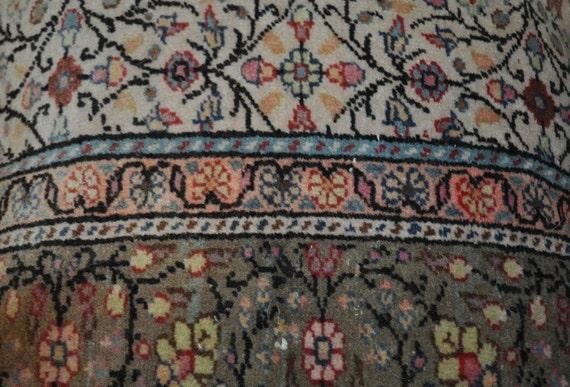 Vintage Turkish rug pillow multi colored