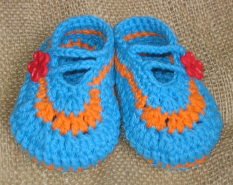 Baby's booties for 0-6 mo