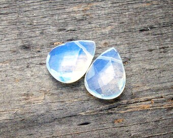 Opalite Czech Glass Briolettes- 18mm (2)