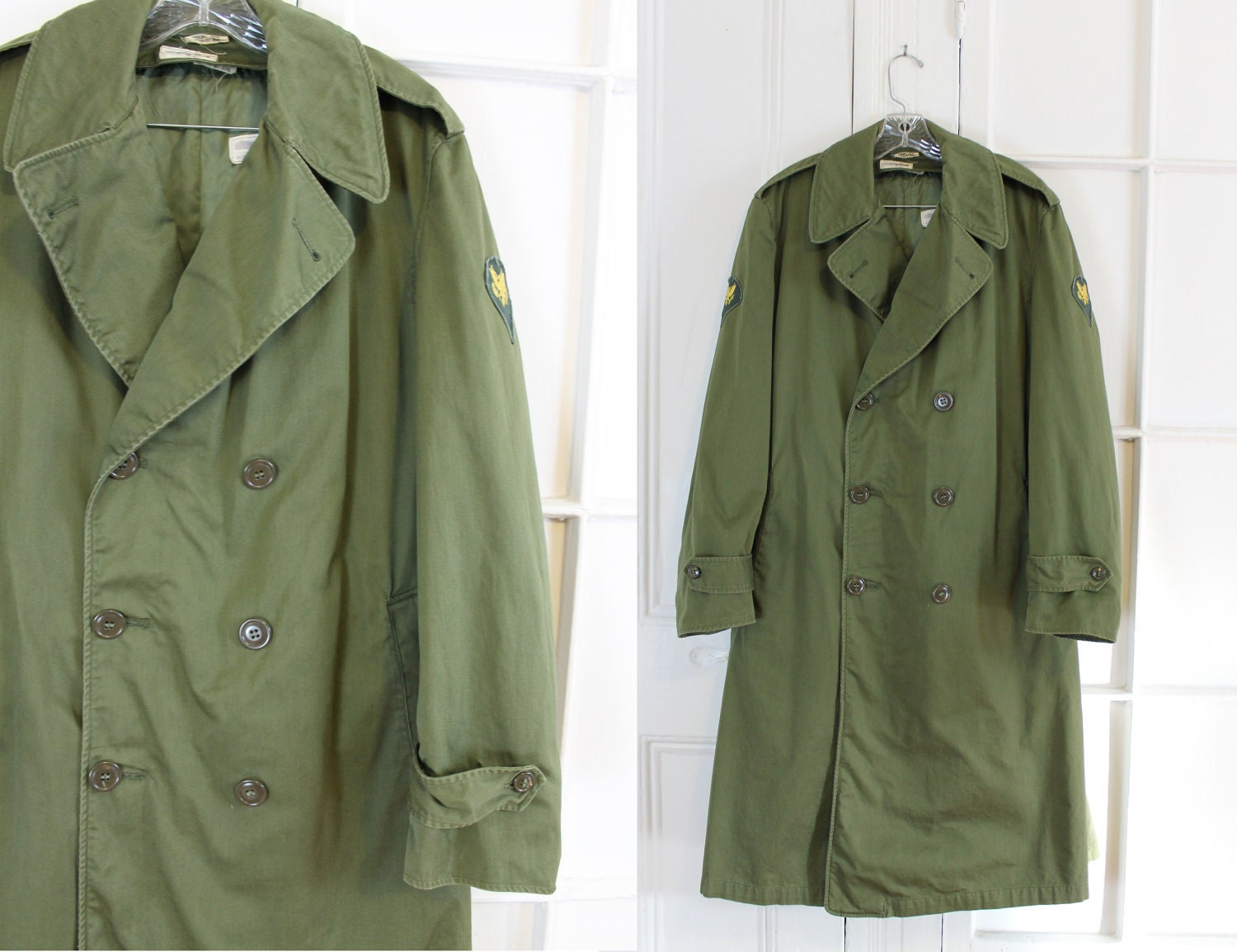 Vintage Military Jacket Punk Trench Coat Mens Trench Coat