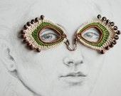 Crochet boho beaded dangle earrings