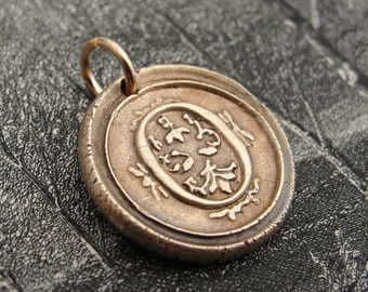 Wax Seal Charm Initial O - wax seal jewelry pendant alphabet charms Letter O by RQP Studio