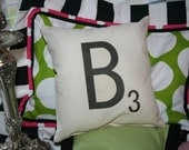 Scrabble Letter Pillows - New Size - 12 Inch