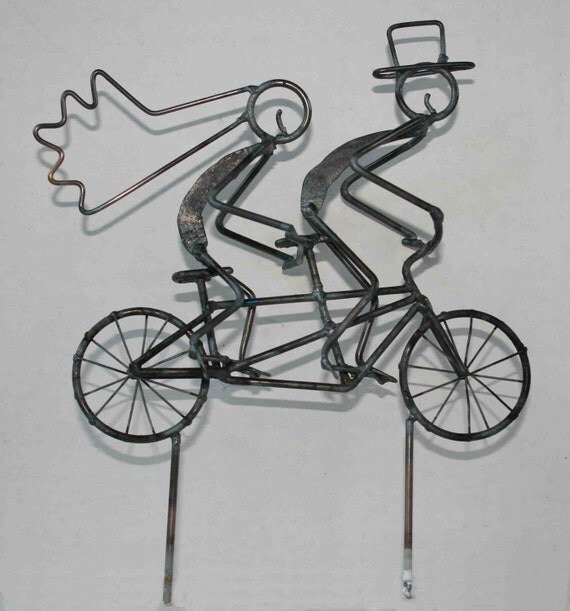 wedding cake toppers bicycle tandem bicycle wedding cake topper 26395