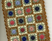 Dollhouse Miniature Afghan Bedspread Throw Lap Blanket Thimbleberries Colours