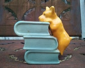 Vintage Bookworm Scotty Dog Planter