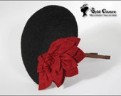 Black with red flower petals