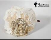 Cream headband with flowers