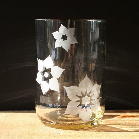 Recycled Bottle Drinking Glasses - Lotus Tumblers