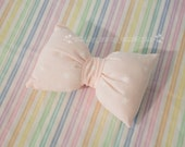 "Large Pillowy ""Peachy Stars"" Limited 2way Bow"