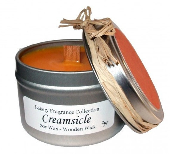 CREAMSICLE - Bakery Fragrance Collection - 100 Soy with Wooden Wick - 4 oz