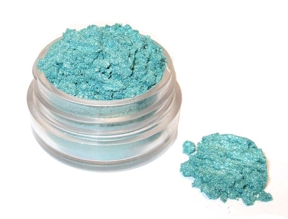 Mineral Eye Shadow TEAL BEACHES 3 Grams Orchid Blue Cosmetics Eyeshadow